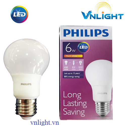 LED BUBL CAO CẤP 6W Philips