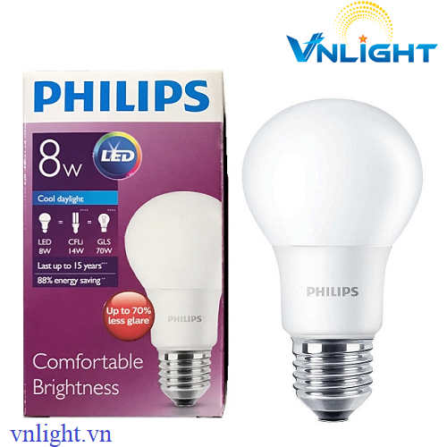 LED BUBL CAO CẤP 8W Philips